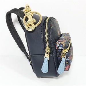 Coach Bags - Coach Backpack Keychain Coin Case Blue Bag Charm